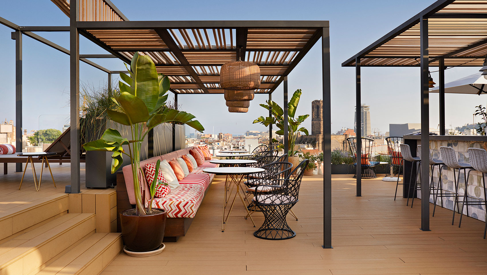 Terrace with Barcelona views
